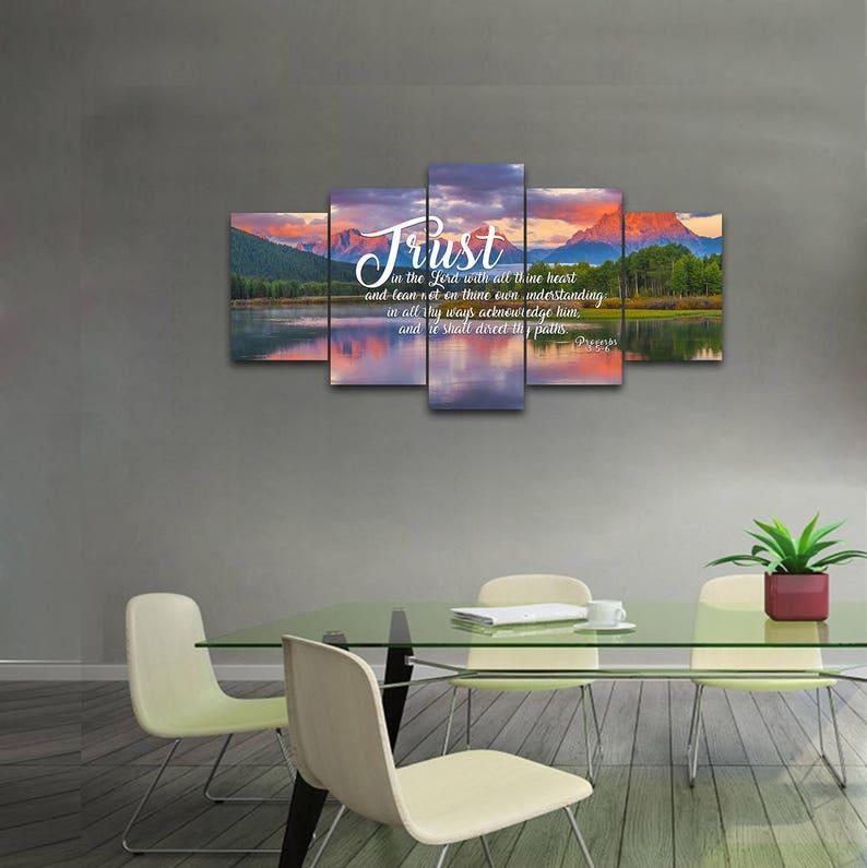 Proverbs 3:5-6 #36 KJV Biblical Wall Art, Bible Quote Art, Bible Verse  Prints, Christian Art Gifts, Religious Gifts, Christian Prints