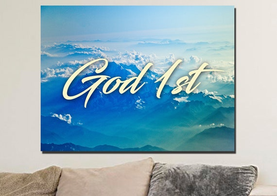 god st bible christian quotes wall art canvas