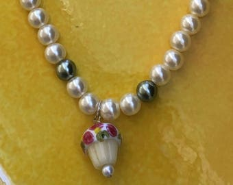 Girl's Pearl and Charm Necklace