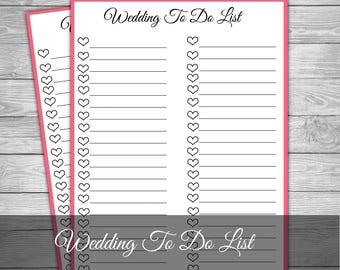 wedding to do list wedding checklist wedding banner wedding organiser wedding notepad bridal checklist wedding planner pdf wedding