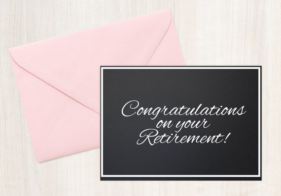 Retirement greeting on your retirement retirement wishes etsy image 0 m4hsunfo