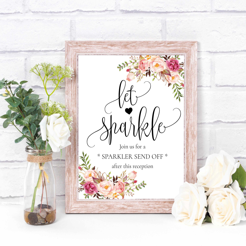 Sparkler send off Sparkler sign wedding Sparklers wedding