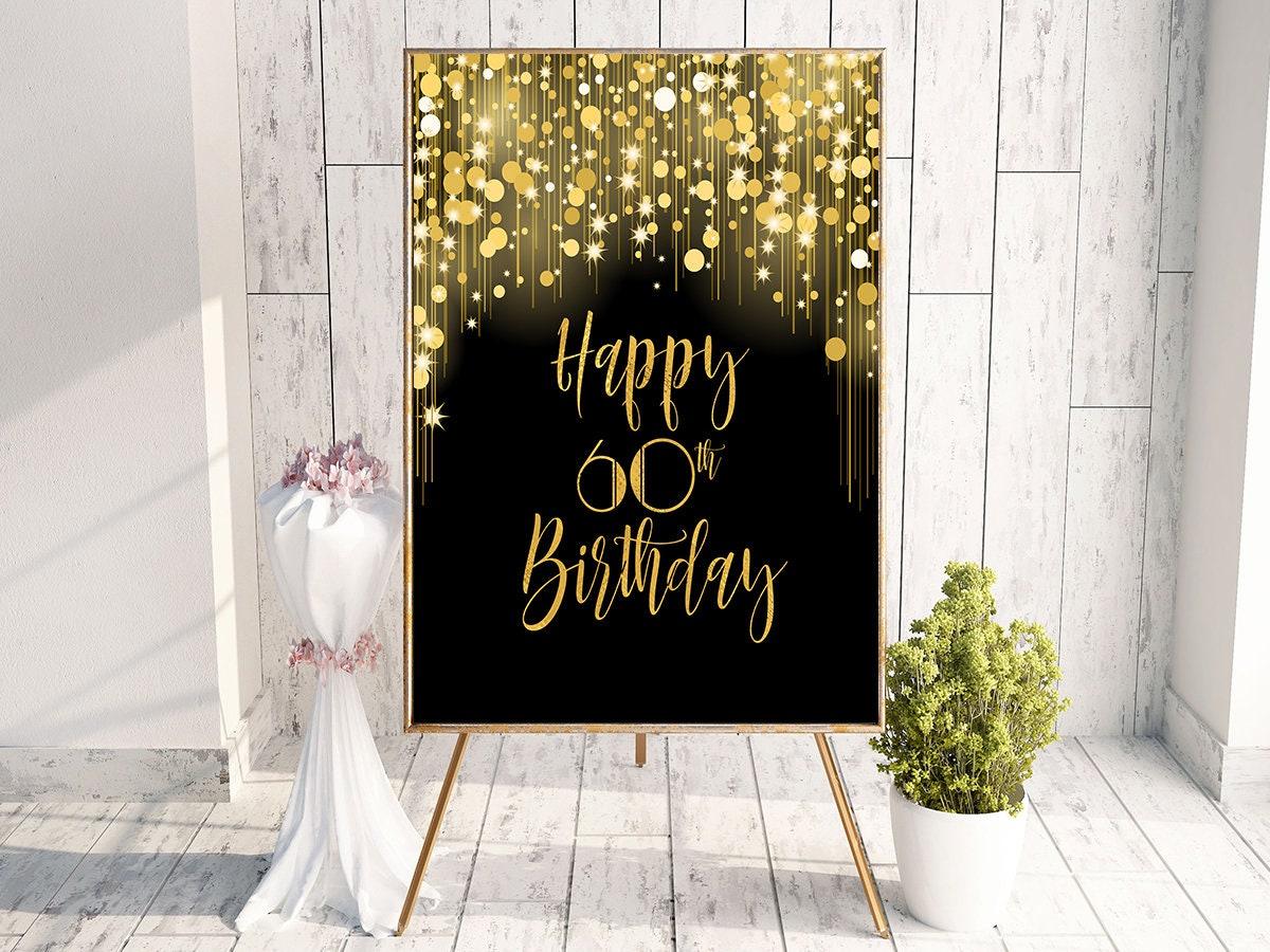 Happy 60th Birthday Decor Decorations