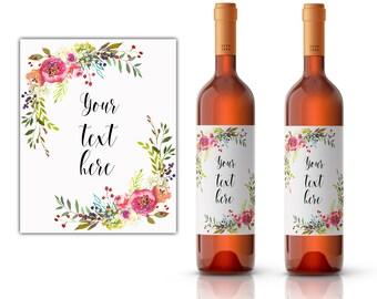 Editable wine label, DIY wine label, your text here, personal wine label, milestone wine label, custom wine label, custom wine labels,