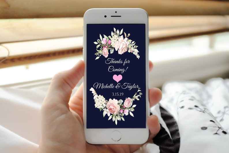 thank you for coming Phone invitation newlywed thank you digital invitation, thanks for coming thank you so much message invitation