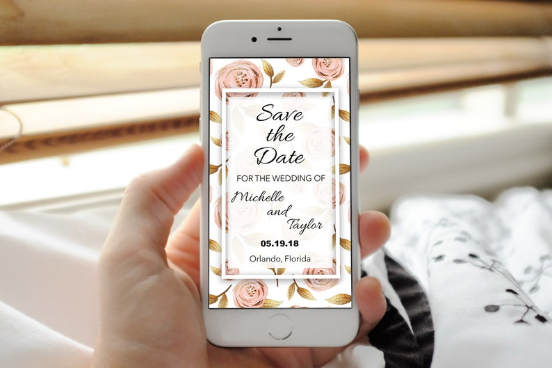 Summer save the date Spring save the email invitation cute save the date electronic invite cheap save the date Digital Invitation