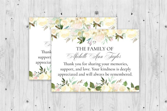 Grief card Sad loss card Condolence card funeral card Name /& Date Personalized Bereavement card Sympathy card Mourning card
