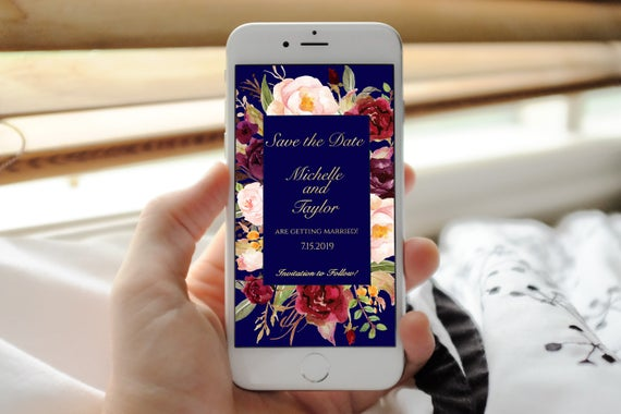 wedding save the day save the date floral cheap save the date roses save the date Digital Invitation email invitation electronic invite