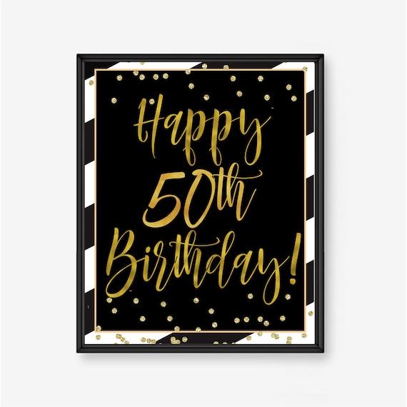 50 Geburtstag Plakat Mann 50 Geburtstag 50 Party Ideen Etsy