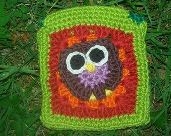 Pocket square for towel periodical OWL motif