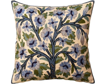 Tree Of Life Tapestry Throw Pillow Cover 18x18 William Morris Tissé Floral