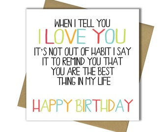 Husband Wife Boyfriend Girlfriend Partner Birthday Card 30th 40th 50th 60th 65th