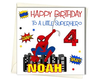 PERSONALISED Boy Birthday Card For Brother Godson Son Grandson Nephew 1st 2nd 3rd 4th 5th 6th 7th 8th 9th