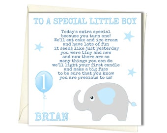 PERSONALISED Boys 1st Birthday Card First For Brother Godson Son Grandson Nephew Babies