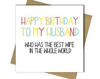 Birthday Card Husband Etsy