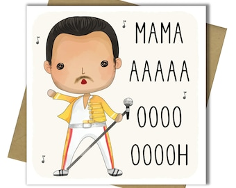 Queen Birthday Card Mothers Day Mum Mam Mom