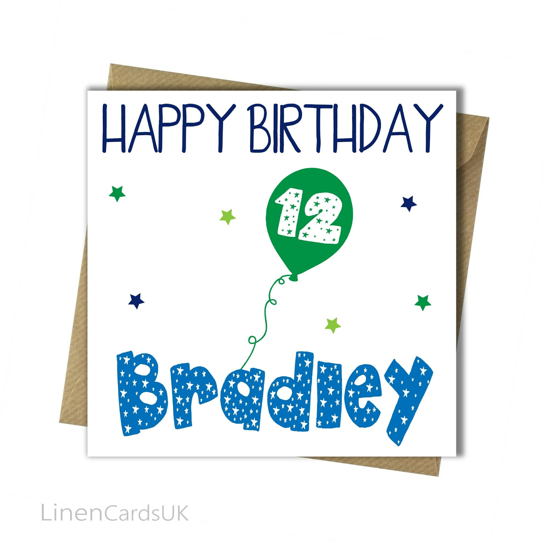 Personalised 6th 7th 8th 9th 10th 13th 16th 18th Son Grandson Boy Birthday Card