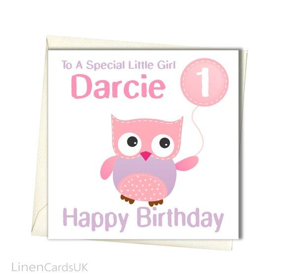 PERSONALISED Girls Birthday Card Daughter