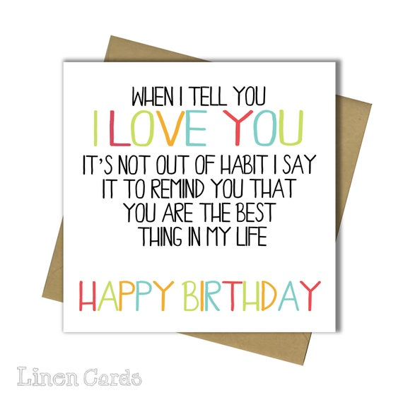 Husband Wife Boyfriend Girlfriend Partner Birthday Card 30th