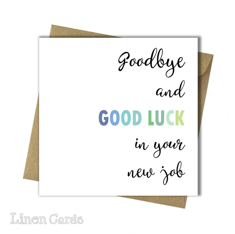 New Job Card ~ Leaving Card ~ New Job for Colleague ~ Congratulations New Job Card ~ Good Luck New Job Card ~ Sorry You/'re Leaving Card.