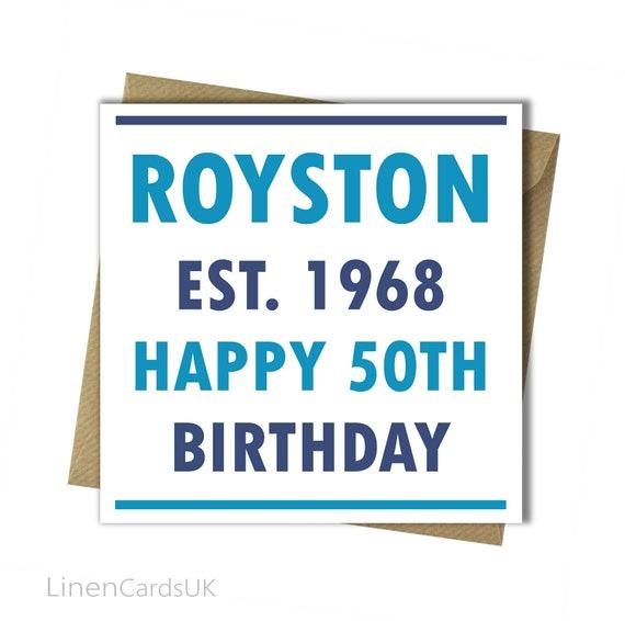 Personalised Birthday Card Dad Husband Boyfriend Grandson Son