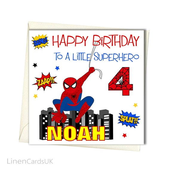 PERSONALISED Boy Birthday Card For Brother Godson Son Grandson