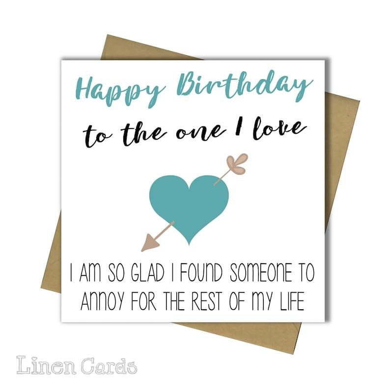 Husband Wife Boyfriend Girlfriend Partner Birthday Card 30th 40th 50th 60th 65th