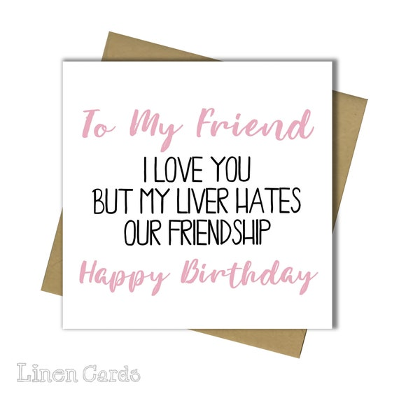 Birthday Card Best Friend Bestie Female Birthday Card Funny Etsy