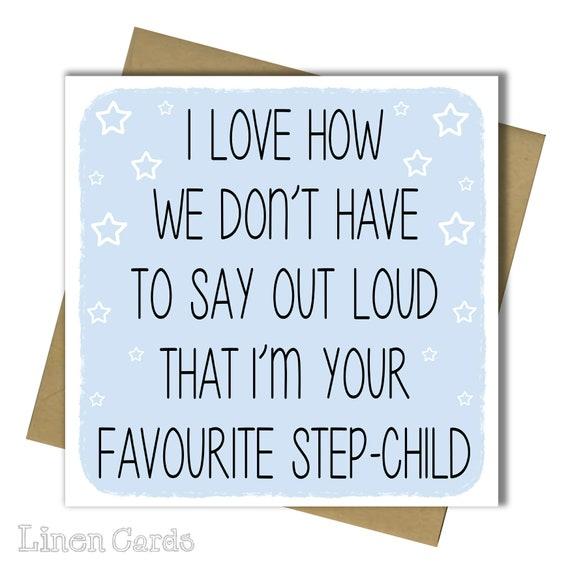 Step Dad Card Stepdad Father Daddy