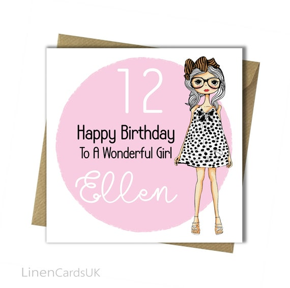 PERSONALISED Girls Birthday Card Girl Daughter Granddaughter