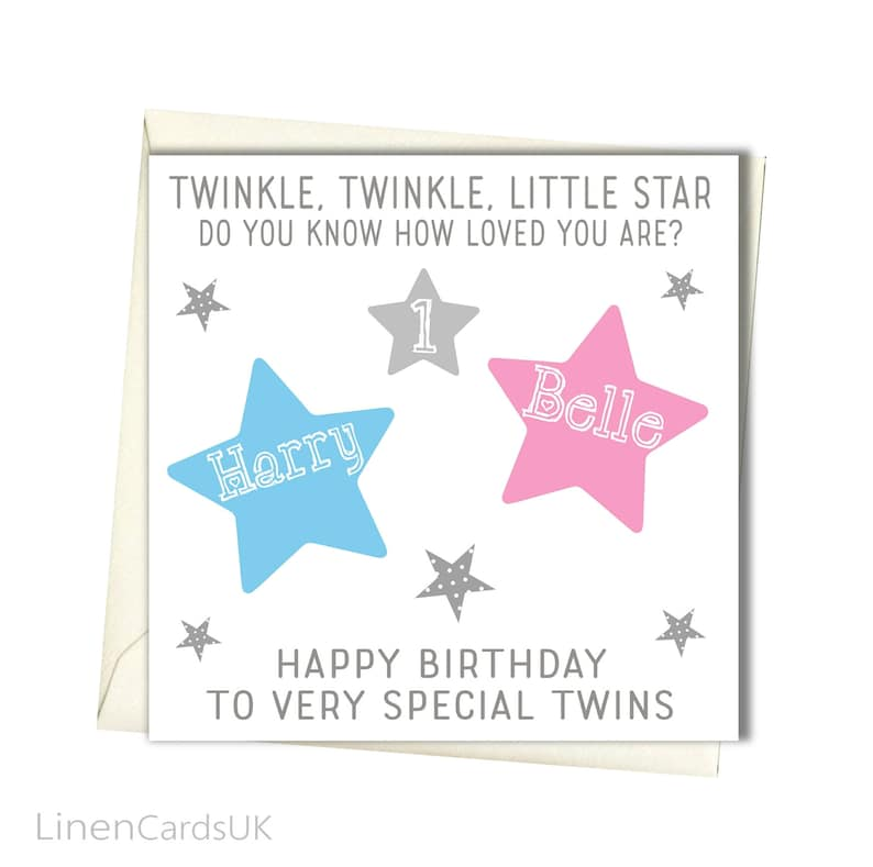 Personalised Twins Birthday Card First