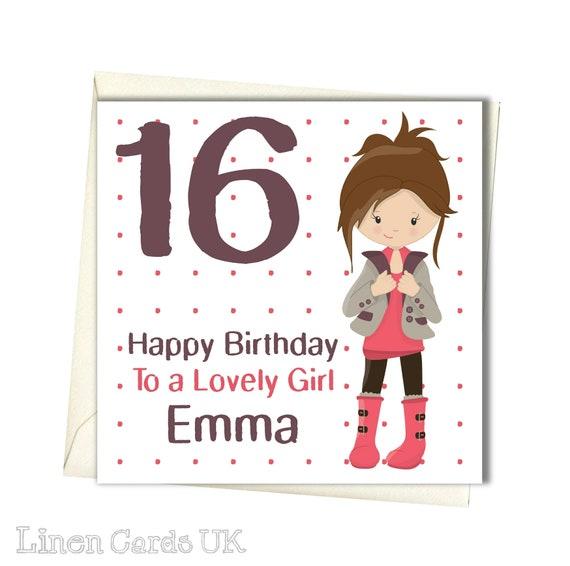 PERSONALISED Girls Birthday Card Girl Daughter Granddaughter
