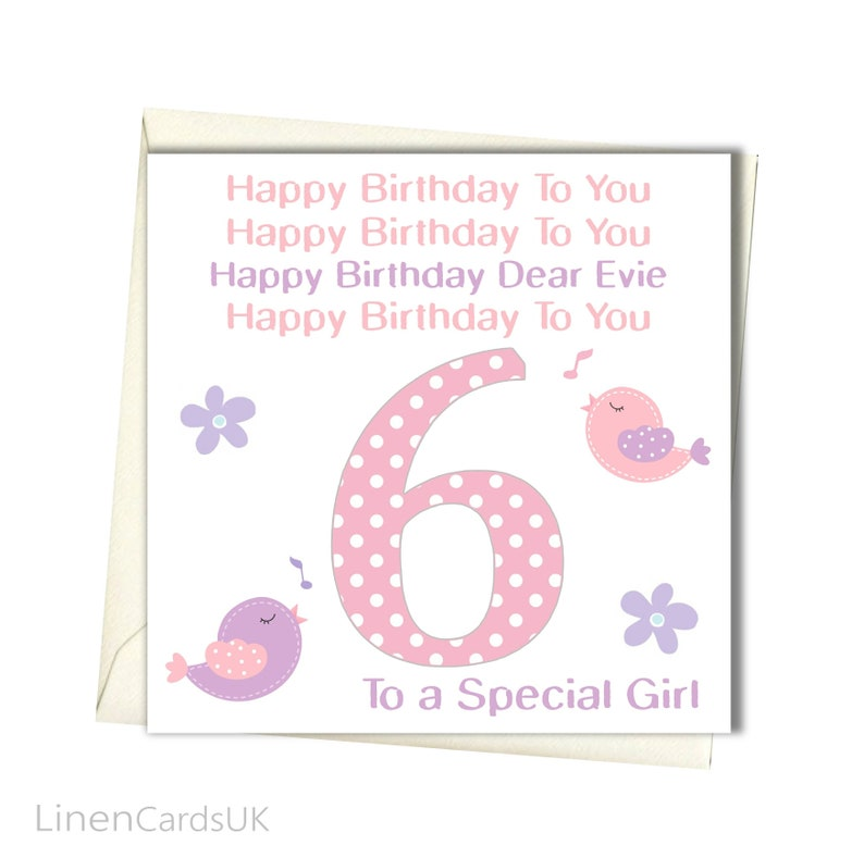 PERSONALISED Girls Birthday Card Daughter