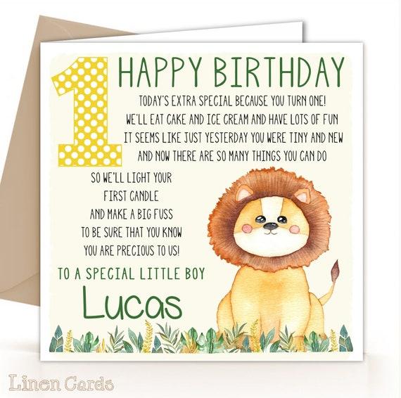 Nephew 1st Birthday Card