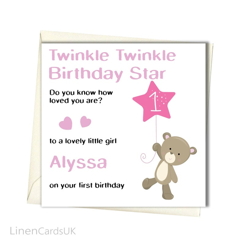 Personalised Birthday Card Daughter