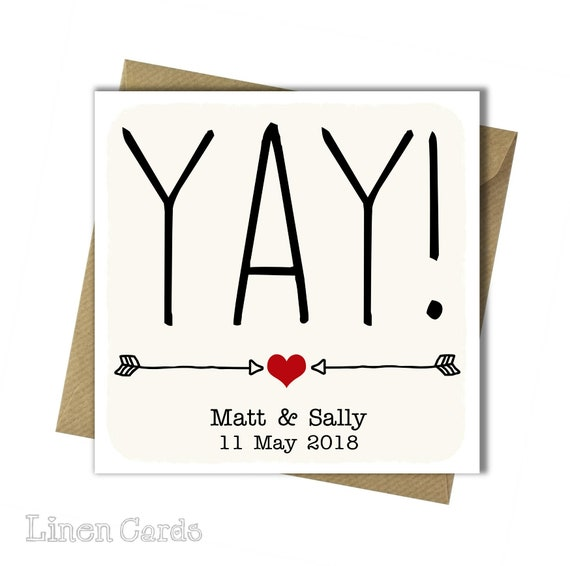 Personalised Congratulations Card Personalised Wedding Day Etsy