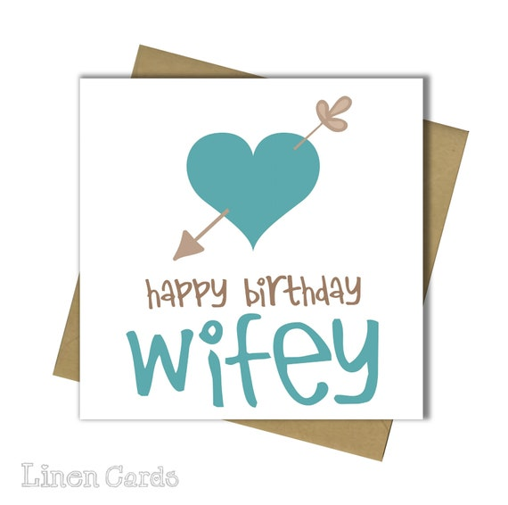 Wife Birthday Card Fun Humour Banter 30th