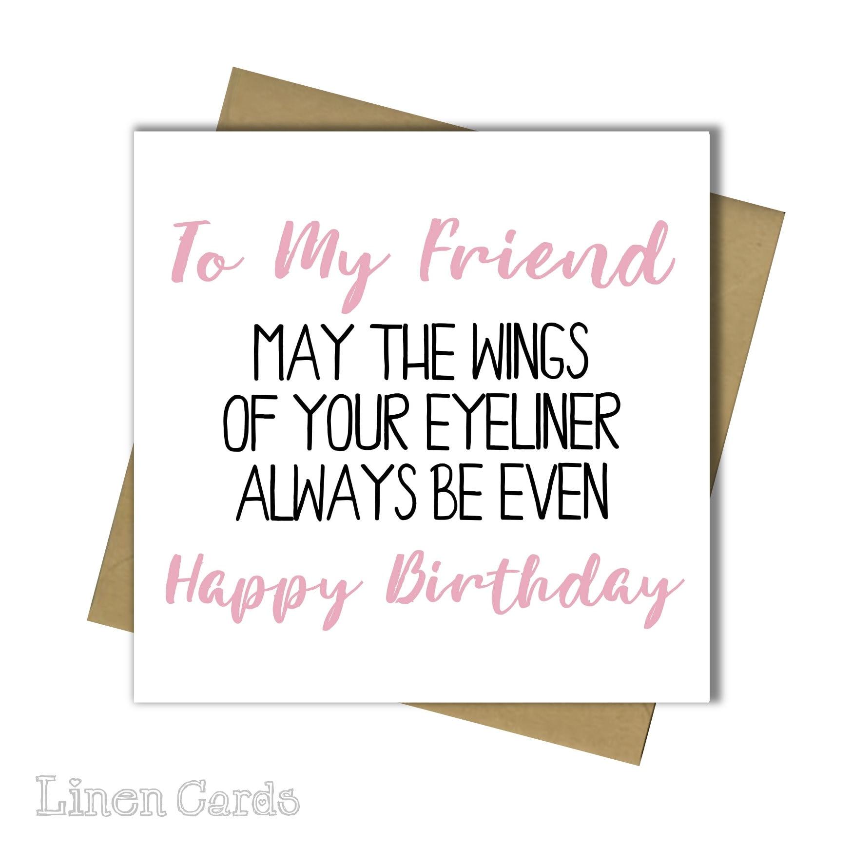 Birthday Card Best Friend Bestie Female Funny