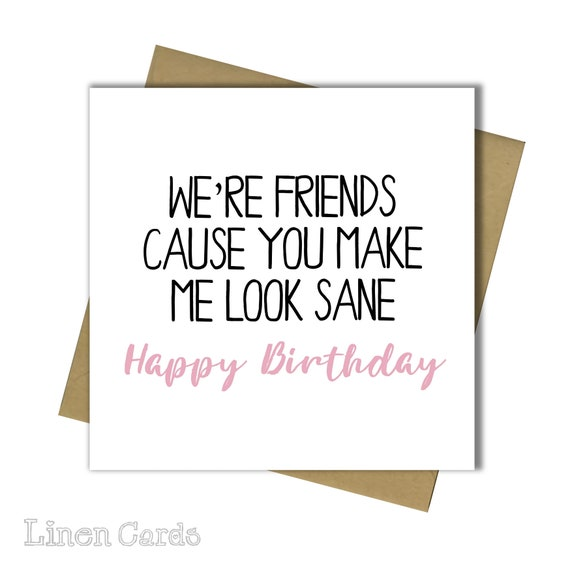 Birthday Card Best Friend Bestie Female Funny