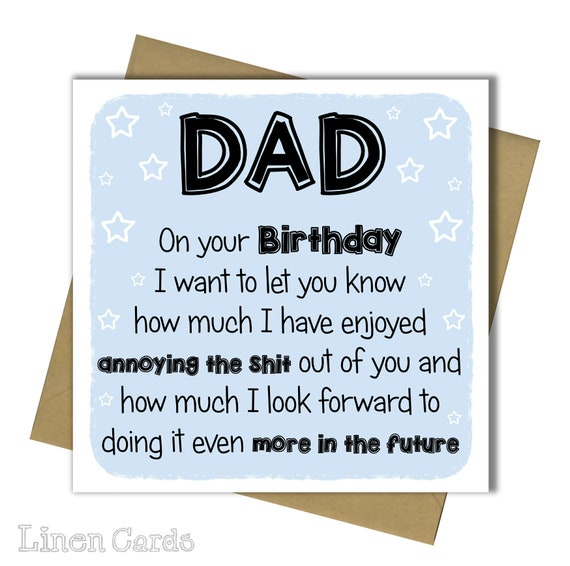 Birthday Card Dad Birthday Cards Daddy Birthday Card Father Etsy
