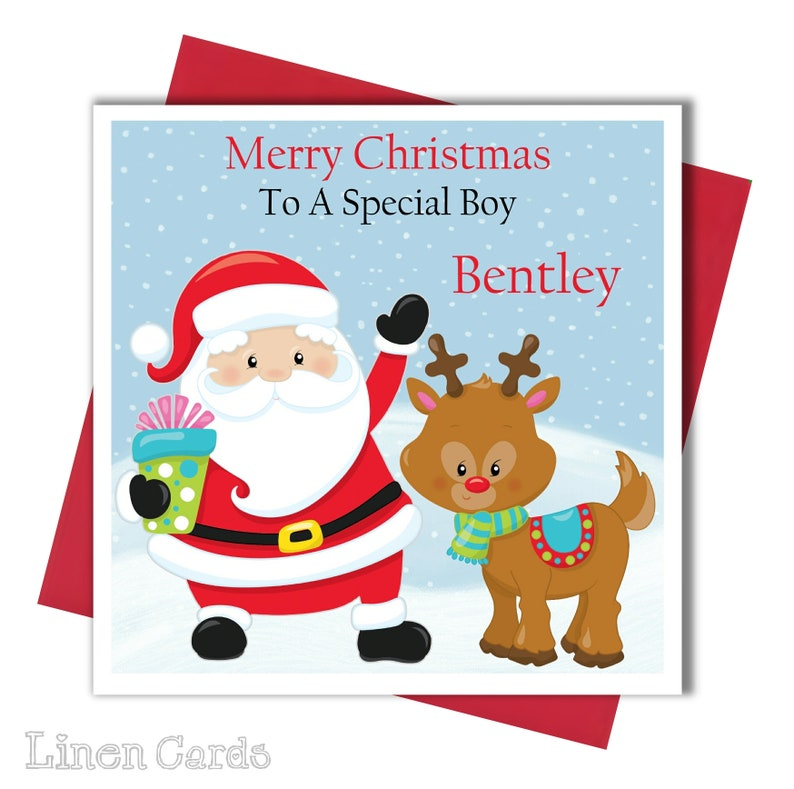 Merry Christmas Nephew.Personalised Christmas Card Brother Godson Son Grandson Nephew Christmas Card