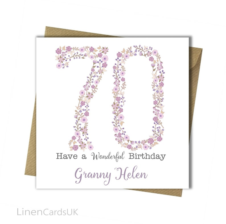 Birthday Card 18th 30th 40th 50th 60th 65th 70th Personalised Mother Grandmother Daughter Niece Sister Friend Wife Girlfriend