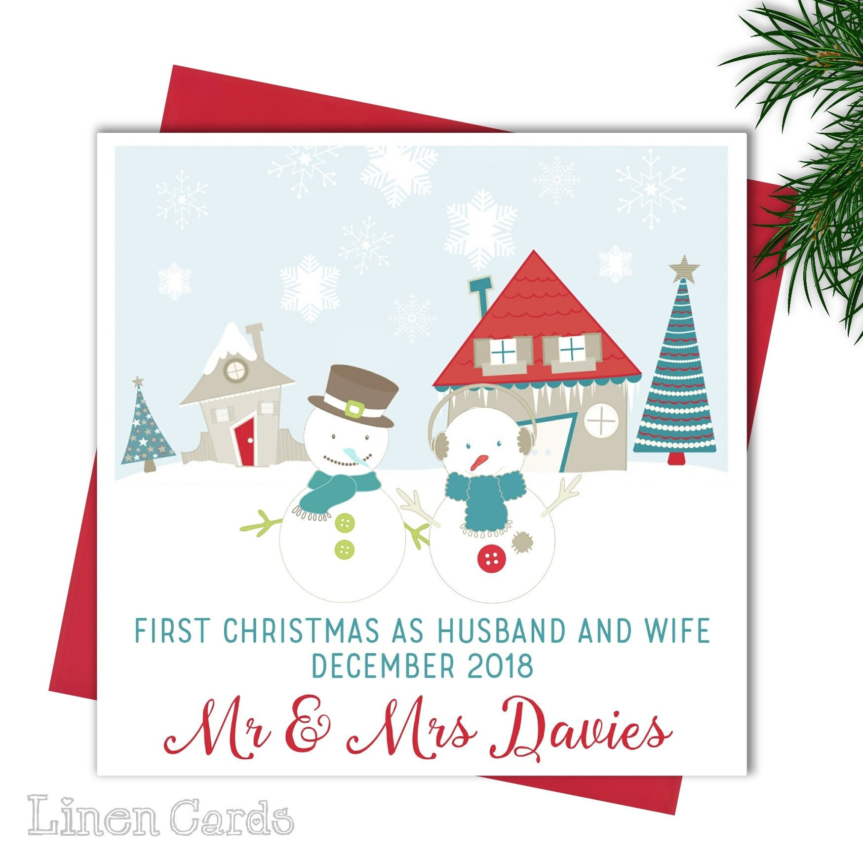 Personalised Christmas Card Special Couple Daughter Son Mum | Etsy
