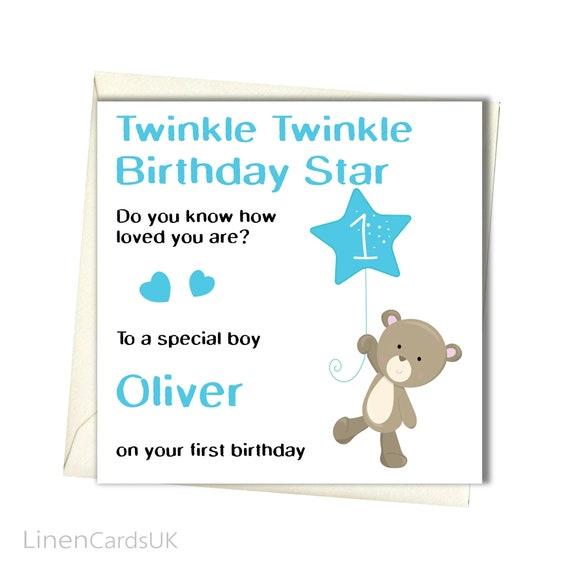 PERSONALISED Boys Birthday Card Brother Godson