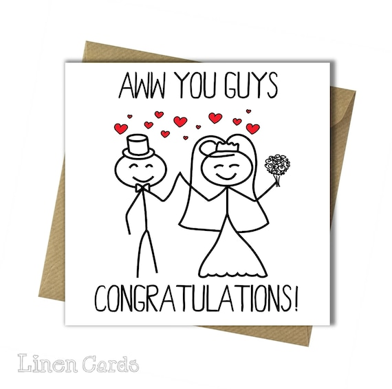 Wedding Day Images With Name: Congratulations On Your Wedding Day Card Funny Wedding