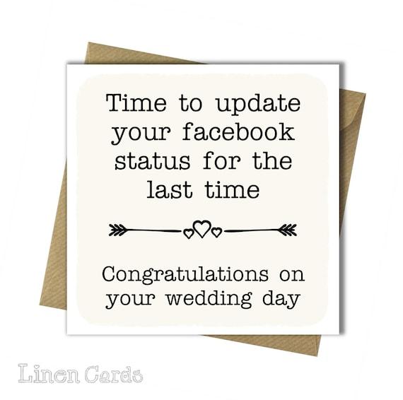 Gefeliciteerd Met Uw Kaart Wedding Grappige Bruiloft Card Op Uw Bruiloft Dag Leuke Kaart