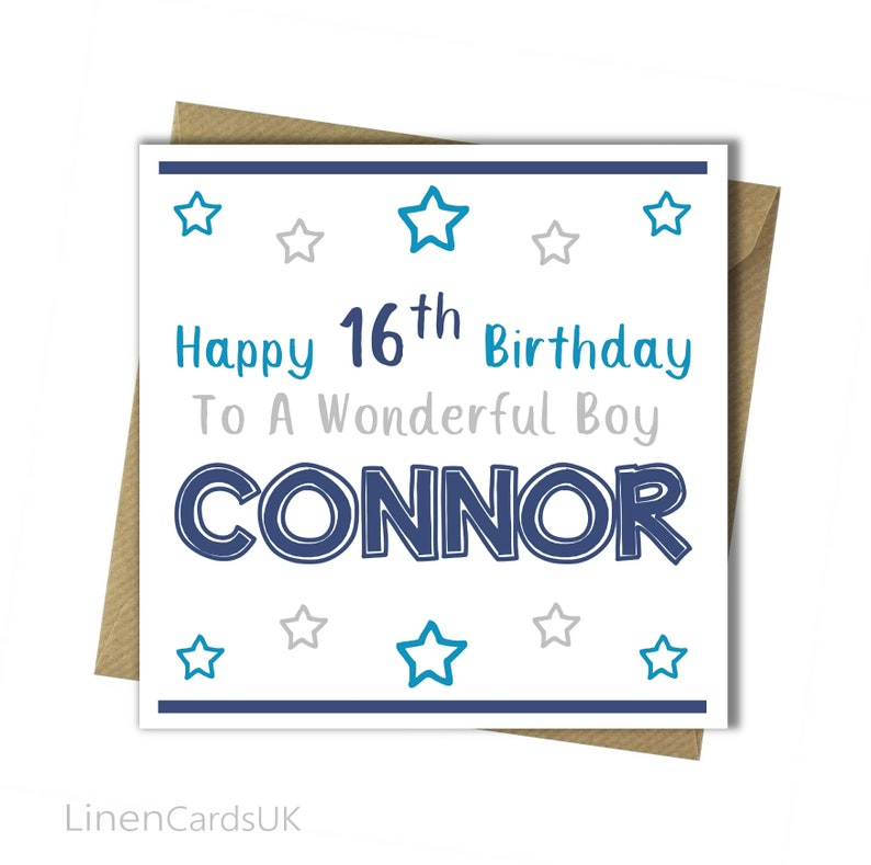 Personalised Boys Birthday Card Brother Godson Son Grandson Nephew Boy 7th 8th 9th 10th 13th 16th 18th 21st