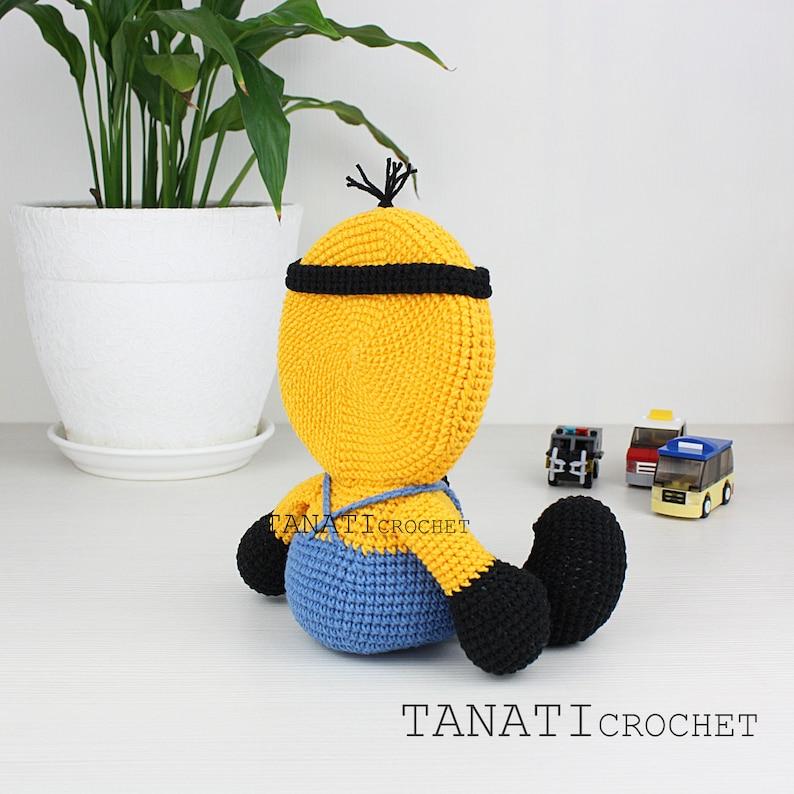 Crochet Minion Photo Frame Home decor Photo frame baby kids gift idea