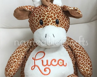 Personalized Stuffed Animal, Personalized Giraffe, Personalized Baby Gifts, Giraffe Gifts, Birth Announcement Gifts, Giraffe Stuffie,