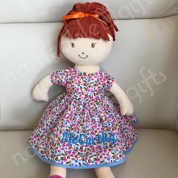 Personnalisé Fleur Fille Demoiselle D/'honneur poupée de chiffon Tout Message Cadeau De Mariage Sac